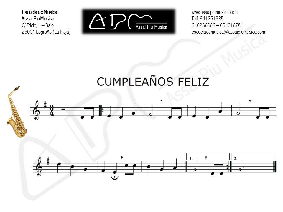 Cumpleanos feliz para flauta travesera